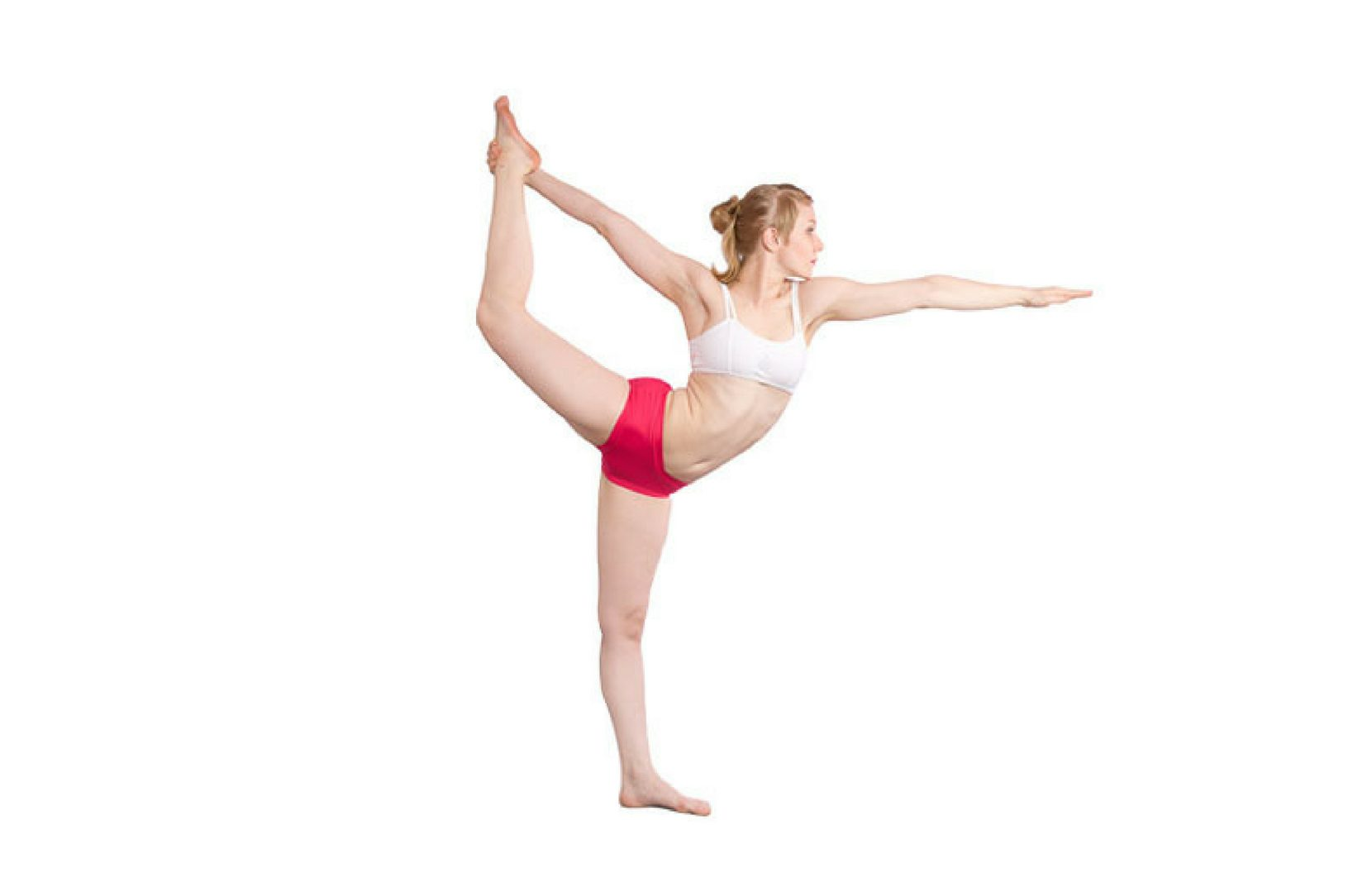 yoga standing bow pose