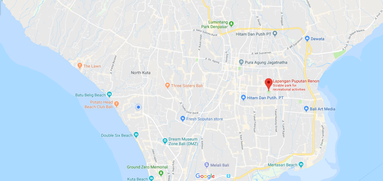 Lapangan Renon Map International Yoga Day Bali 2019